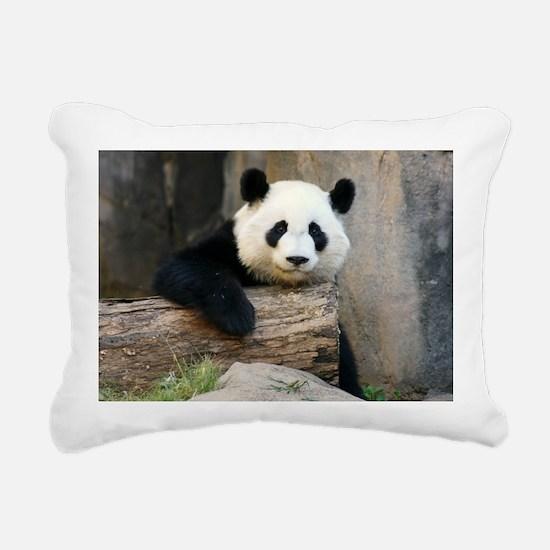panda3 Rectangular Canvas Pillow