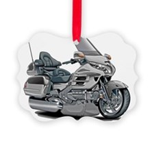 Goldwing Silver Bike Picture Ornament