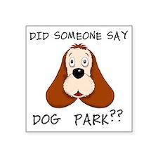 "cocker dogpark black Square Sticker 3"" x 3"""