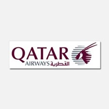 2000px-Qatar_Airways_Logo Car Magnet 10 x 3
