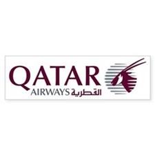 2000px-Qatar_Airways_Logo Bumper Sticker