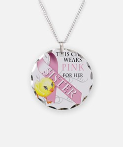 This Chick Wears Pink for he Necklace