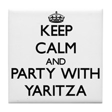 Keep Calm and Party with Yaritza Tile Coaster