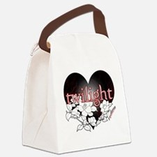 Twilight Flowers by Twibaby Canvas Lunch Bag