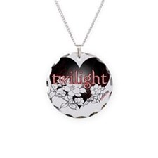 Twilight Flowers by Twibaby Necklace Circle Charm