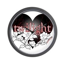 Twilight Flowers by Twibaby Wall Clock