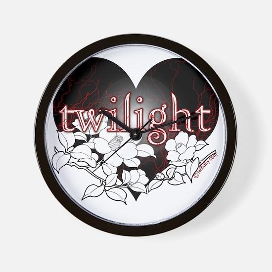 Twilight Flowers by Twibaby Wall Clock