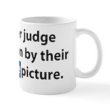 Never Judge (light) Mug