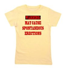 4-CAUTION.SPON.ERECT Girl's Tee
