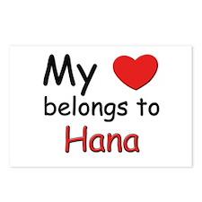My heart belongs to hana Postcards (Package of 8)
