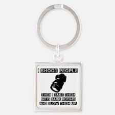 I-shoot-people2 Square Keychain