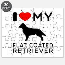 I Love My Flat Coated Retriever Puzzle