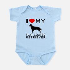 I Love My Flat Coated Retriever Infant Bodysuit