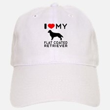 I Love My Flat Coated Retriever Baseball Baseball Cap