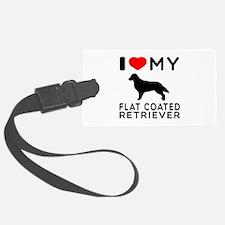 I Love My Flat Coated Retriever Luggage Tag