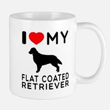 I Love My Flat Coated Retriever Mug