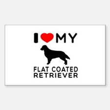 I Love My Flat Coated Retriever Decal