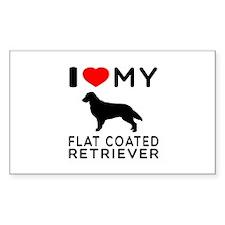 I Love My Flat Coated Retriever Decal