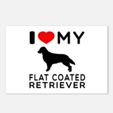 I Love My Flat Coated Retriever Postcards (Package