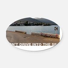 SEAwh Oval Car Magnet