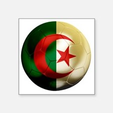 "Algeria Football Square Sticker 3"" x 3"""