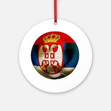 Serbia Football Round Ornament