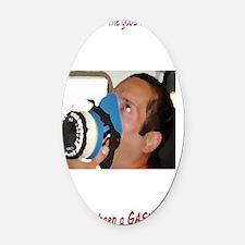 itsagas[23x35_print] Oval Car Magnet