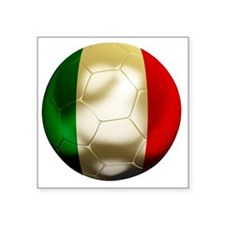 "Italy Football Square Sticker 3"" x 3"""