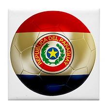 Paraguay Football Tile Coaster