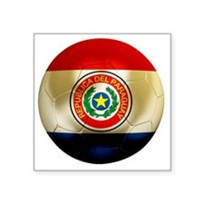 "Paraguay Football Square Sticker 3"" x 3"""