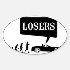 losers Sticker (Oval)