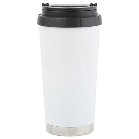 Saxaphone Player White Stainless Steel Travel Mug
