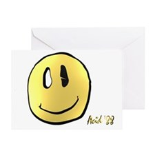 smileys acid man Greeting Card