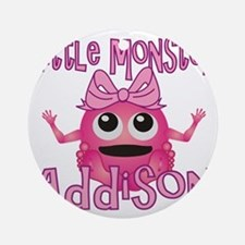 addison-g-monster Round Ornament