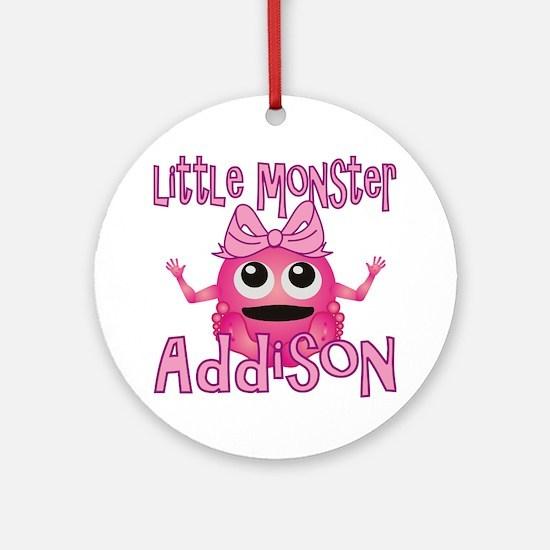 addison-g-monster Round Ornament