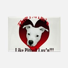 Pitbull Luv'n Rectangle Magnet