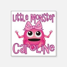 "caroline-g-monster Square Sticker 3"" x 3"""