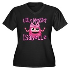 isabelle-g-m Women's Plus Size Dark V-Neck T-Shirt