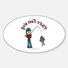 Light Fishing Oval Decal