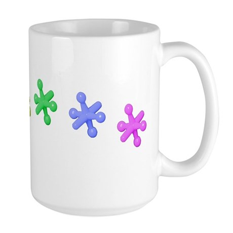 Rainbow Pride Jacks Large Mug