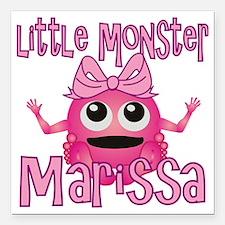 "marissa-g-monster Square Car Magnet 3"" x 3"""