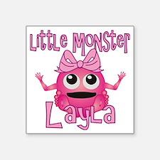 "layla-g-monster Square Sticker 3"" x 3"""
