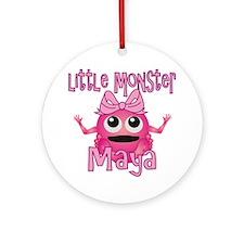 maya-g-monster Round Ornament