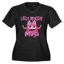 maya-g-monst Women's Plus Size Dark V-Neck T-Shirt