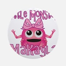 makayla-g-monster Round Ornament