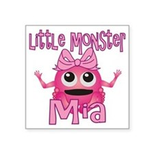 "mia-g-monster Square Sticker 3"" x 3"""