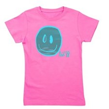2-blue smiley Girl's Tee