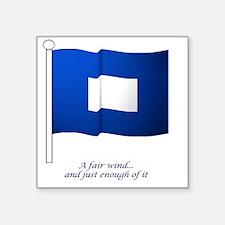 "bluepeter[11x11_pillow] Square Sticker 3"" x 3"""