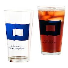 bluepeter[5x3rect_sticker] Drinking Glass
