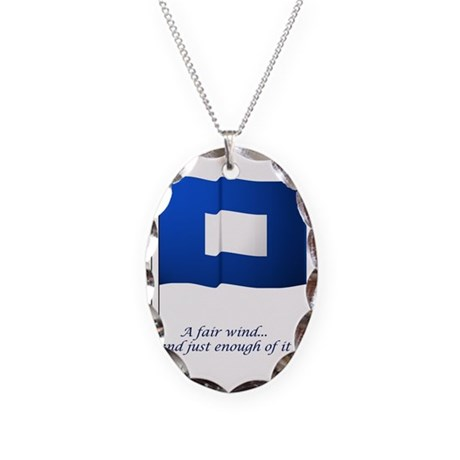 bluepeter[16x20_print] Necklace Oval Charm